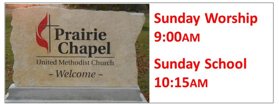 Prairie Chapel Welcome - Worship & Sunday School Times